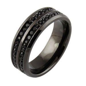 Other - mens black sapphire wedding ring sz 10 12 13